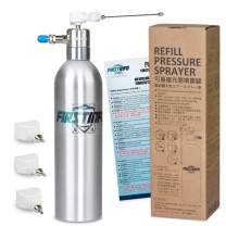 FIRSTINFO Aluminum Can Pneumatic/Manual Refillable Fluid/Oil Pressure Storage Sprayer + Jet + Sprayer Two Ways Nozzle and 0.5mm,1.0mm,1.5mm Bulk Jet Nozzles Kit (With 4 different type nozzles)
