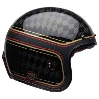 Bell Custom 500 Carbon Open-Face Motorcycle Helmet (RSD Checkmate Matte/Gloss Black/Gold, XX-Large)