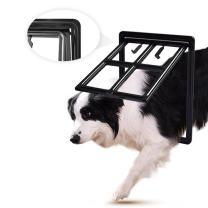 LESYPET Dog Screen Door - Pet Dog Door with Magnetic Automatic Lock for Pet Screen Door