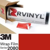 3M 2080 G13 Gloss HOT Rod RED 5ft x 14ft W/Application Card Vinyl Vehicle Car Wrap Film Sheet Roll
