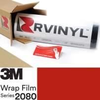 3M 2080 G13 Gloss HOT Rod RED 5ft x 10ft W/Application Card Vinyl Vehicle Car Wrap Film Sheet Roll