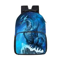EIIORPO Dragon Backpack For Teenage Traveling Water Resistant Durable Children School Bags for Teens Boys Girls Preppy Style 17 Inch Laptop Backpack Hip Hop Book Bag