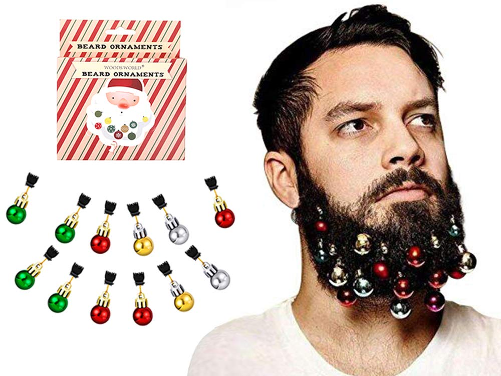 Woods World Christmas Beard Ornaments Christmas Beard Bells Gift 12 Colorful Christmas Facial Ornaments for Man in The Holiday Spirit (12 Pieces) …