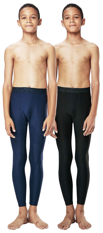 DEVOPS Boys 2-Pack UPF 50+ Compression Tights Sport Leggings Baselayer Pants