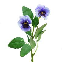 Beautiful Handmade Real Touch Artificial Flower Cloth Pansy Viola Wittrockiana Bouquet for Wedding Home Party Office Restaurant Cafe Vase Photography Decoration (Bunch of 6,Blue)