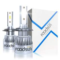 Protekz H7 Fanless LED Headlight Bulbs Conversion Kit Xenon White 50W 10000LM