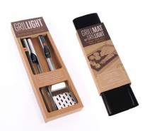 Grillight Grilling Essential Combo Gift Set: LED Light Spatula, Tongs & Bonus GrillMat   Restaurant Grade Stainless Steel Tools w/Built-in LED Flashlight   Turn Grill into Griddle   Grill in The Dark