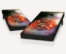 Tailgating Pros Fire Badge Cornhole Boards with Set of 8 Cornhole Bags