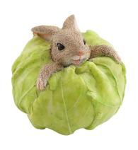Top Collection Miniature Fairy Garden and Terrarium Rabbit Stuck in Cabbage Statue