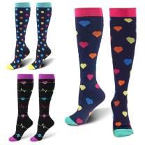 ZFiSt 3Pair Medical Sport Compression Socks for Women Men,20-30 mmHg Run Compression Sock for Nurse Edema Travel Pregnant