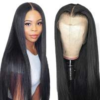 UNice Hair Bettyou Series 13x4 Straight Lace Front Human Hair Wigs, 180% Density, Brazilian Virgin Hair Lace Frontal Wig with Baby hair Black Color (16 inch)