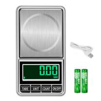 Ataller Digital Pocket Scale, 1000g by 0.01g, Digital Grams Scales, Kitchen Food Scale With Tare, Counting, Correction, Auto OFF Function, LCD Background Light, Silver, Stainless Steel