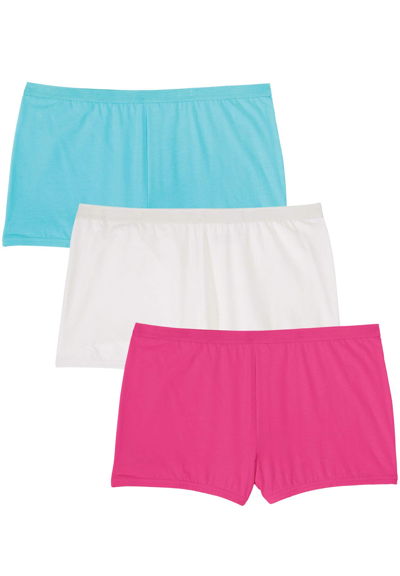 Comfort Choice Women's Plus Size 3-Pack Boyshort