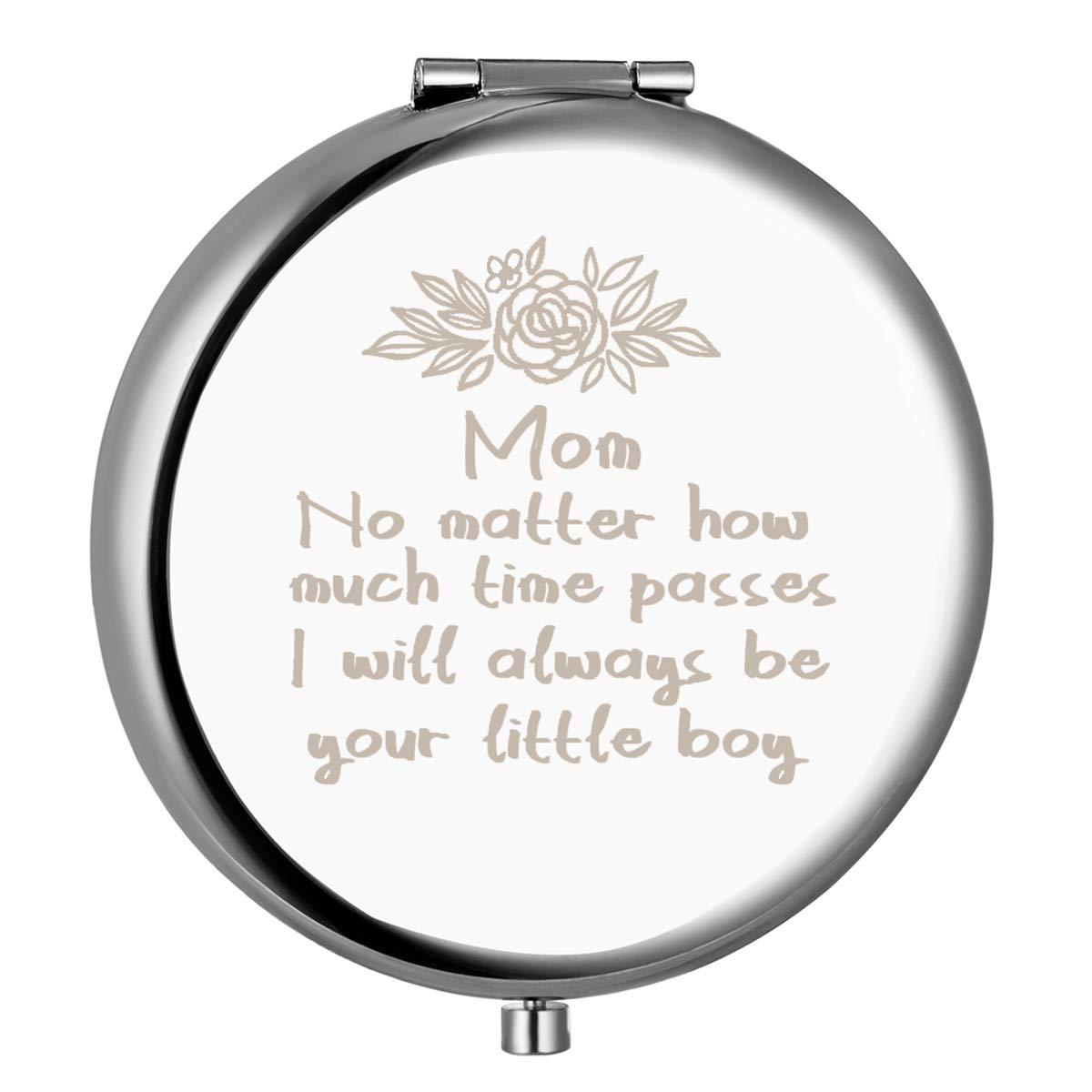 sedmart Gift for Mom from Son,Mother's Day Birthday Christmas Anniversary Valentine's Gifts for Mom from Son, Unique Engraved Compact Mirror,Personalized Memorable Present for Mom