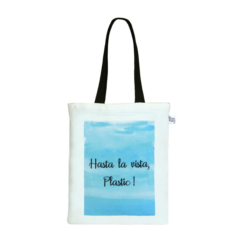 EcoRight Zipper Canvas Tote Bag for Women, Eco-friendly Handbags for Women Girls