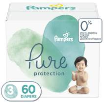 Diapers Size 3, 60 Count - Pampers Pure Protection Disposable Baby Diapers, Hypoallergenic and Unscented Protection, Super Pack (Old Version)