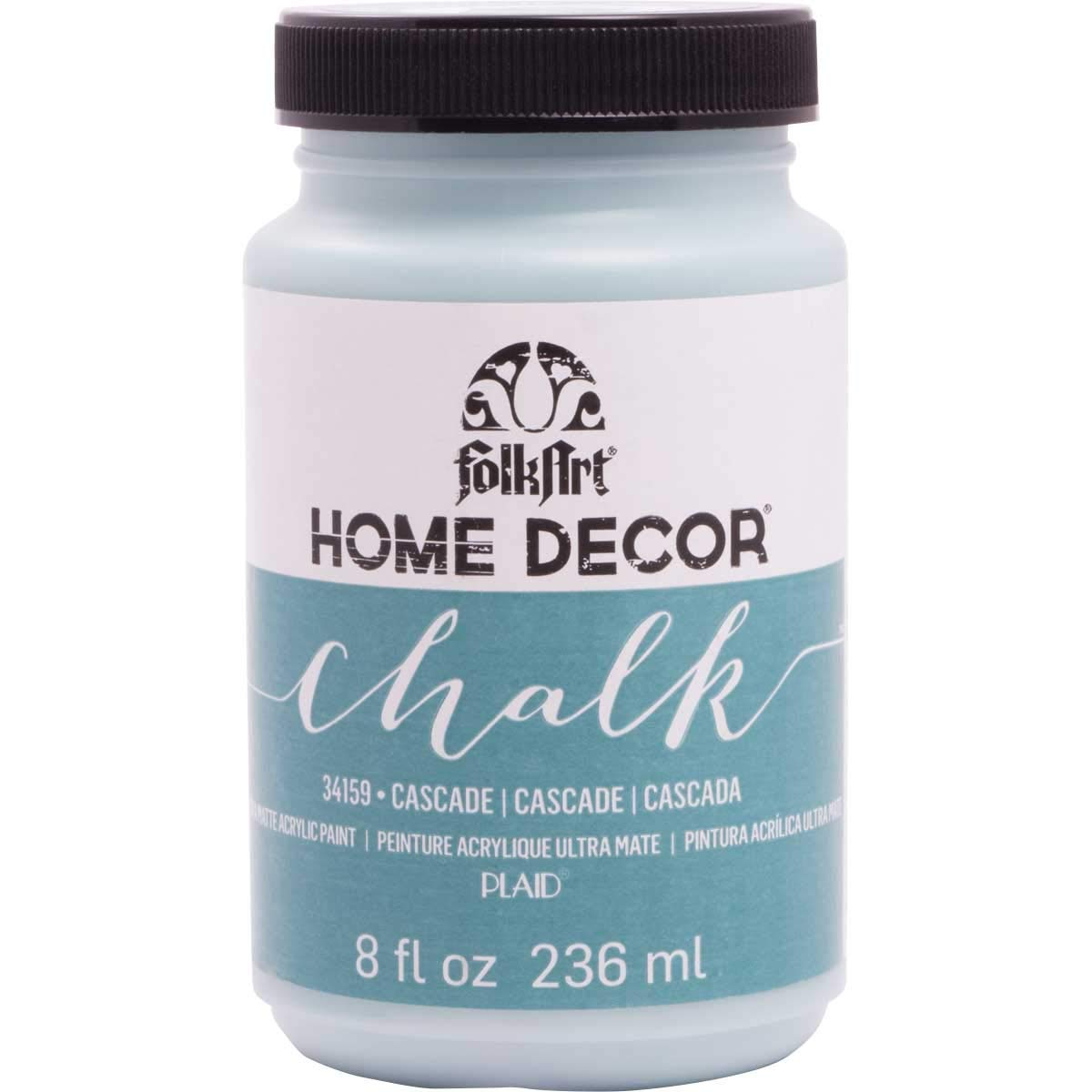 FolkArt 34159 Home Decor Chalk Furniture & Craft Paint in Assorted Colors, 8 ounce, Cascade