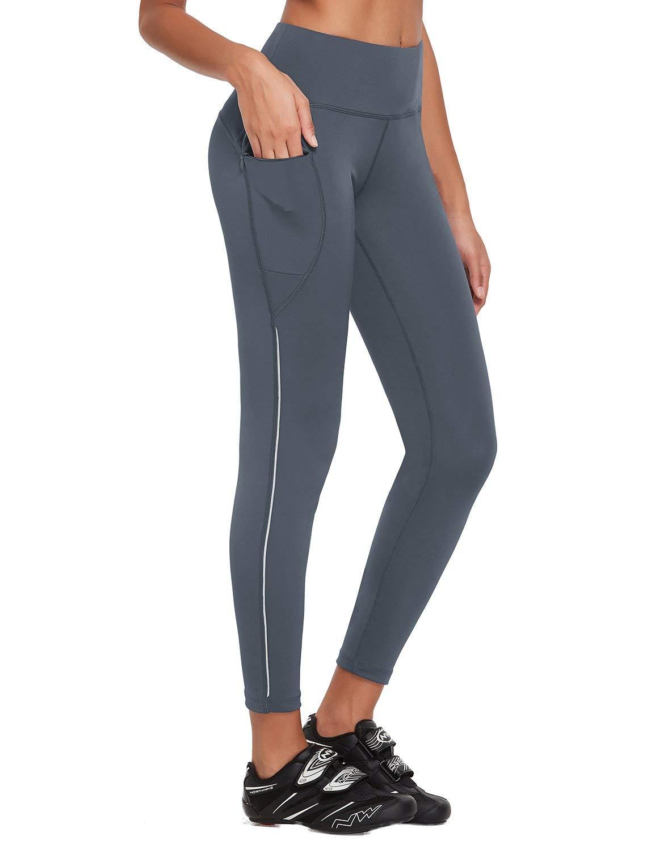 BALEAF Women's High Waist Workout Leggings Fitness Gym Pants Running Cycling Tights Pockets UPF50+