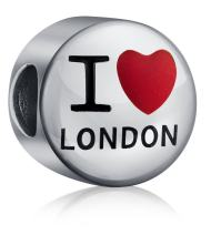 I Love London or Paris Travel World Vacation Charm Bead For Women For Teen 925 Sterling Silver Fits European Bracelet
