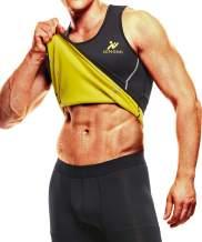 NINGMI Sweat Vest for Men Neoprene Waist Trainer Tank Weighted Vest Waist Trimmer Sauna Suit Running Vest