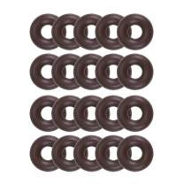 uxcell Fluorine Rubber O-Rings 10mm OD 4mm ID 3mm Width, Metric FKM Sealing Gasket, Pack of 20
