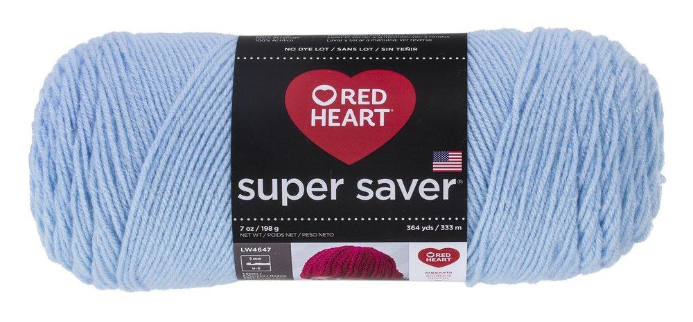 Red HeartSuper Saver Yarn, Light Blue