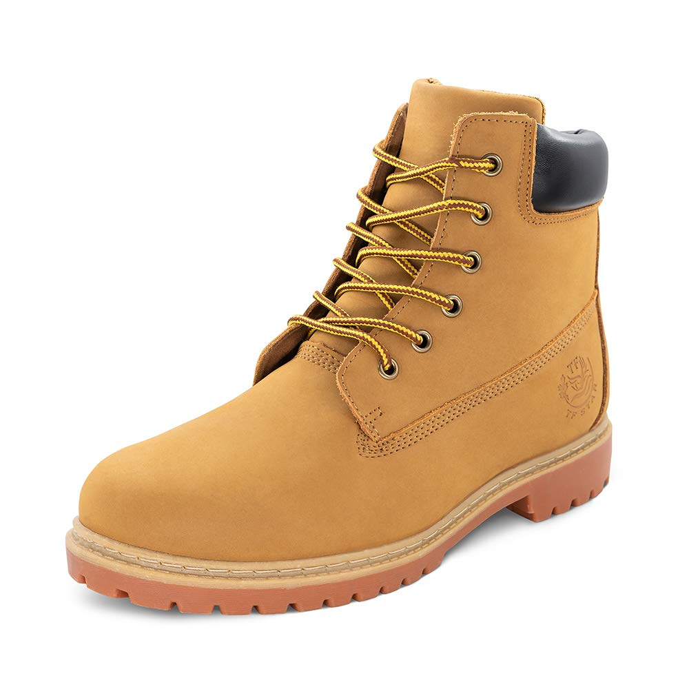 """Men's 6"""" Basic Contrast Collar Boot Work High Heel Lace Up Premium Waterproof Boots Shoes Outdoors"""