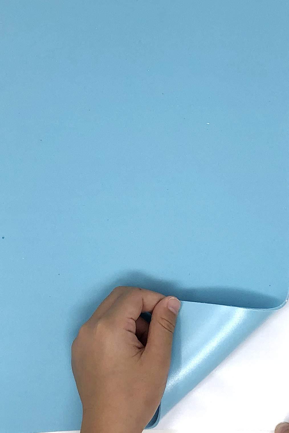 Allgala 20 Pack Self-Adhesive EVA Foam Paper 8x12 Inch Sheets-Light Blue-CF85414