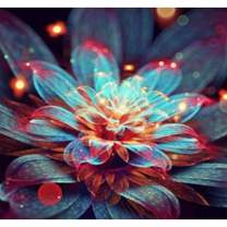 Diamond Painting Kits for Adults Kids, 5D DIY Flower Diamond Art Accessories with Round Full Drill for Home Wall Decor - 11.8×11.8Inches
