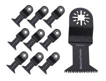 ABN 10 Pack Oscillating Multitool 1 3/4in Wood/Plastic Blade Precision Japan Blades