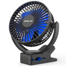 OPOLAR Rechargeable Battery Operated Clip On Fan 5000mAh, Upgrade Quieter & Stronger Wind, 10W Fast Charge, Sturdy Hold Personal Portable Fan for Golf Cart, Office Desk, Chair, Treadmill, Camping
