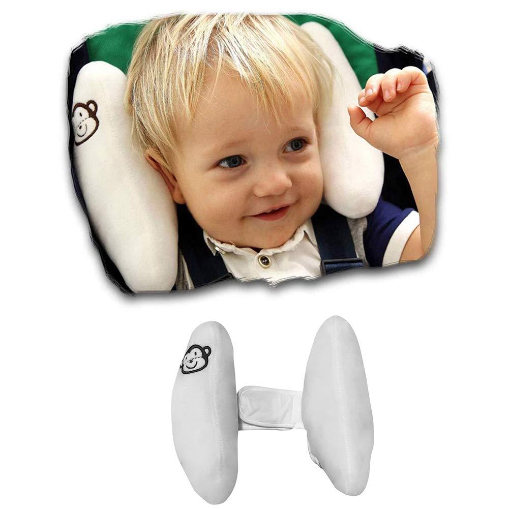 StoHua Baby Adjustable Head Neck Support - Banana Shape Travel Pillow for Car Seat Pushchair Pram Stroller Rocker, Infant Head Neck Protection Cushion