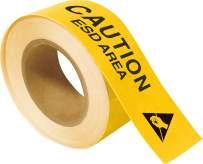 "Brady 121367 Toughstripe Caution ESD Area, 2"" Height x 100' Length, Yellow Floor Tape"