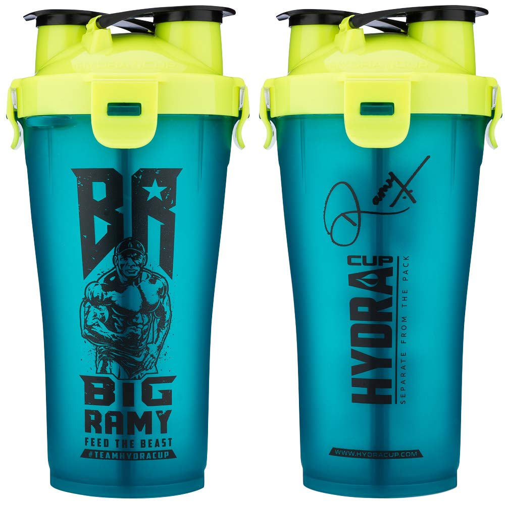 Hydra Cup - 30oz Dual Threat Shaker Bottle, Shaker Cup + Water Bottle, 2 in 1, Leak Proof, Awesome Colors, Save Time & Be Prepared, Big Ramy Shark Blue
