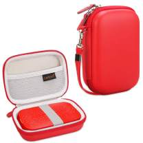 Canboc Shockproof Carrying Case Storage Travel Bag for HP Sprocket Portable Photo Printer and (2nd Edition) / Polaroid Zip Mobile Printer/Lifeprint 2x3 Portable Protective Pouch Box, Red