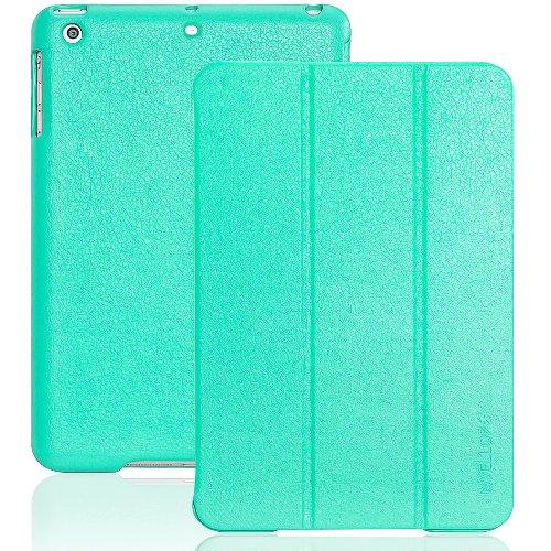INVELLOP iPad Mini case, Teal/Turquoise Leatherette Case Cover for Apple iPad Mini/iPad Mini 2/iPad Mini 3 (Teal/Turquoise)