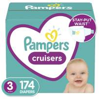 Diapers Size 3, 174 Count - Pampers Cruisers Disposable Baby Diapers, ONE MONTH SUPPLY (Packaging May Vary)