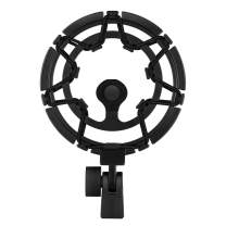 Moukey MMs-7 Shock Mount Compatible for Blue Yeti/Yeti Pro/Yeticaster/Yeti X/Snowball iCE Mic-Black