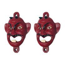 Design Toscano Red Devil Cast Iron Bottle Opener, 2-Pack