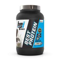 BPI Sports Best Protein – 100% Whey Protein Blend – Muscle Growth, Recovery, Meal Replacement – No Maltodextrin, No Fillers – Gluten Free – For Men & Women – Cookies and Cream – 2.1 Pounds
