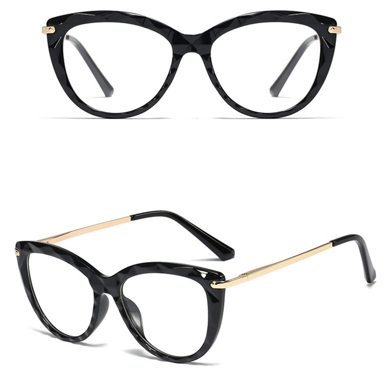GIFIORE Blue Light Blocking Glasses Round Computer Eyeglasses TR90 Crystal Frame