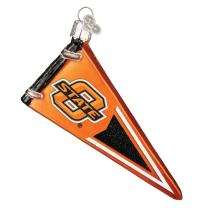 Old World Christmas Ornaments: Oklahoma State Pennant Glass Blown Ornaments for Christmas Tree