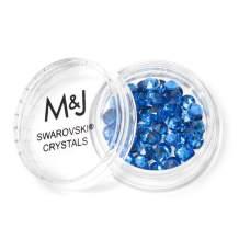 Swarovski Crystals Flat Back Rhinestones - 2088 Xirius Rose Round Foil Backed - SS16 (3.8mm-4mm) - Sapphire 206 (Blue)