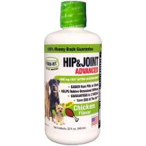 Liquid-Vet Advanced Hip & Joint Supplements for Dogs with Glucosamine + Chondroitin + MSM + Hyaluronic Acid