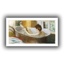 ArtWall 'Woman in Her Bath, Sponging Her Leg' Unwrapped Flat Canvas Artwork by Edgar Degas, 16 by 28-Inch