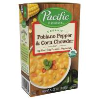 Pacific Foods Organic Poblano Pepper & Corn Chowder, 17oz, 12-pack