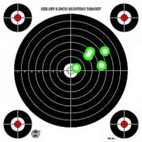 DOMAGRON Green Fluorescent Reactive Target - S-1 Sighting Target (24 Pack) with See hit Technology
