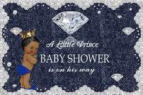 Baocicco 6x4ft Polyester Backdrop Baby Shower Backdrop A Little Prince is on His Way Diamond Denim Lace Decor Photography Background Welcome Newborn Party It's A Little Prince Party Decorations