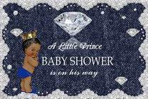 Baocicco 10x8ft Backdrop Baby Shower Backdrop A Little Prince is on His Way Diamond Denim Lace Decor Photography Background Welcome Newborn Party It's A Little Prince Party Decorations