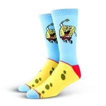 Cool Socks, Unisex, Nickelodeon, SpongeBob SquarePants, Crew, Cartoon Silly 90s Fun